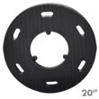 "Malish [786760] Floor Machine SURE-LOK® Polymeric Face Pad/Disc Driver - Plastic Block - 20"" Dia."