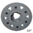 "Malish [789220NP92] Floor Machine TRI-LOK™ Polymeric Face Pad/Disc Driver - Plastic Block - 20"" Dia."