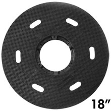 "Malish [786718] Floor Machine MIGHTY-LOK® Polymeric Face Pad/Disc Driver - Solid Block - 18"" Dia."