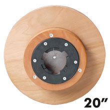 "Malish [781020] Floor Machine Heavy Duty Sandpaper Pad/Disc Driver w/ Universal Clutch Plate - 20"" Dia."