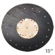 "Malish [782215] Floor Machine ORBO-LOK™ Sanding Screen Pad/Disc Driver w/ P-200 Clutch Plate - 15"" Dia."