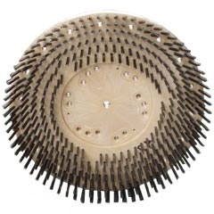 Malish TUFF-BLOCK Floor Machine General Purpose Steel Wire Showerfeed Concrete Scrubbing Brush