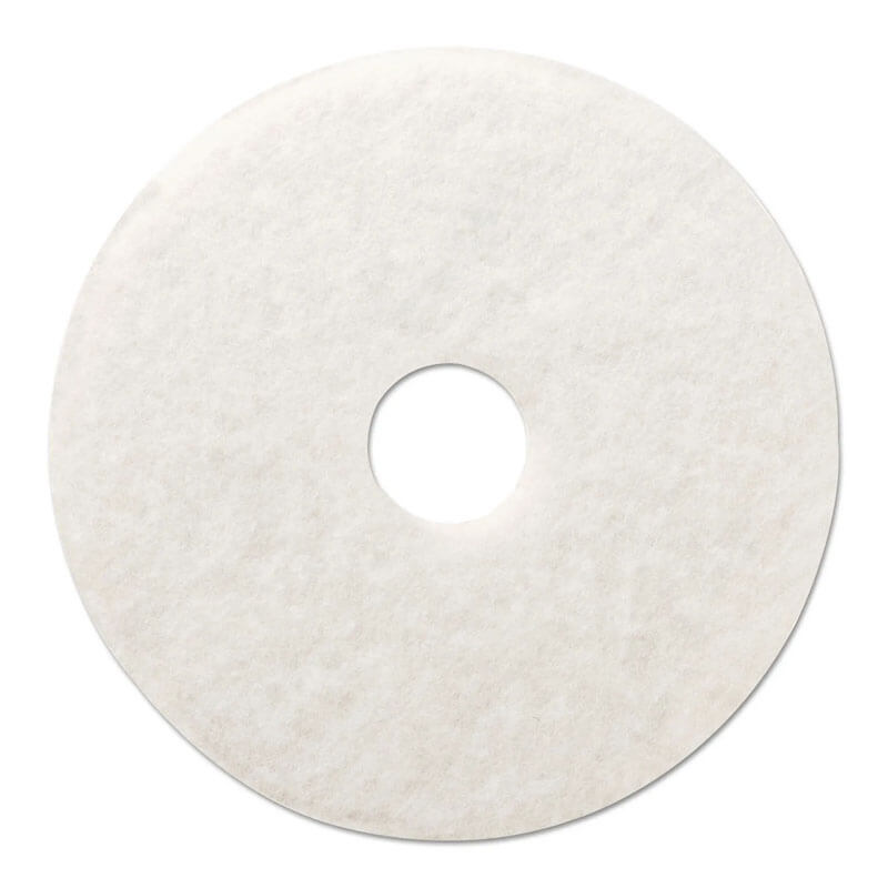 Premiere Pads Floor Machine Polishing Pad - White - (5) 15