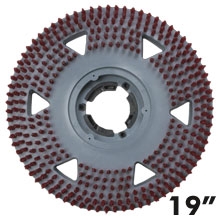 "Malish [862719] Floor Machine UNI-BLOCK™ Showerfeed Pad Driver w/ Molded Riser & Universal Clutch Plate - 19"" Dia."