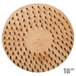 "Malish [773718S] Floor Machine Flat Butcher Wire Concrete Scarifying Brush - 18"" Dia."