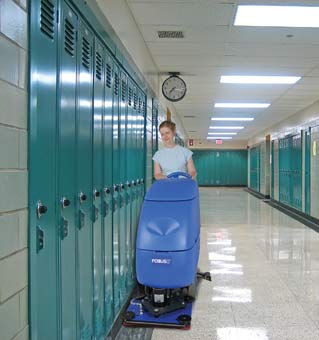 Clarke 05332A Battery Powered Floor Scrubber - Focus II S20 Disc CLK-05332A - The scrub head depicted in this image is BOOST not Disc.