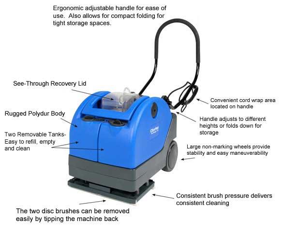 Automatic floor scrubber clarke 9087238020 vantage 13 for 13 floor machine