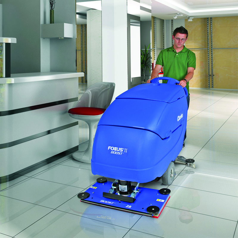 Marvelous Battery Operated Automatic Floor Scrubber   Clarke Focus II 32 Boost    UnoClean