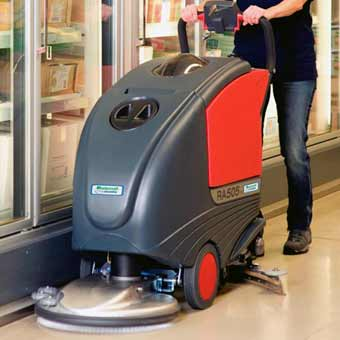 The Mastercraft Cleanfix RA505 IBCT Battery Floor Scrubber does a great job scrubbing hallways and corridors of big buildings such as schools, hospitals, offices, etc.