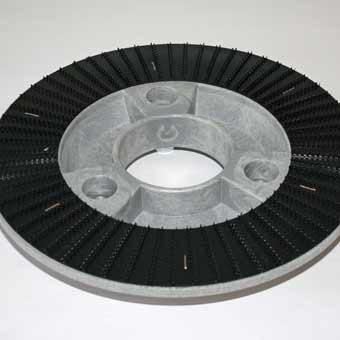 The bottom side of the Driving Disc for the Cleanfix RA 605 Battery Floor Scrubber.