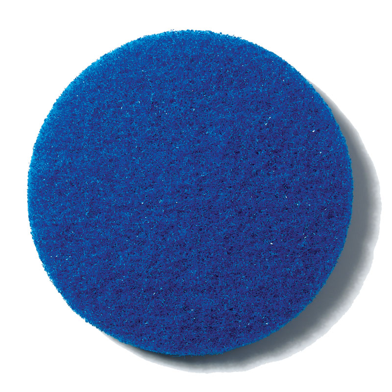 Motor Scrubber MS1068 Heavy-Duty Scrubbing Pads - Blue - 10 Pack