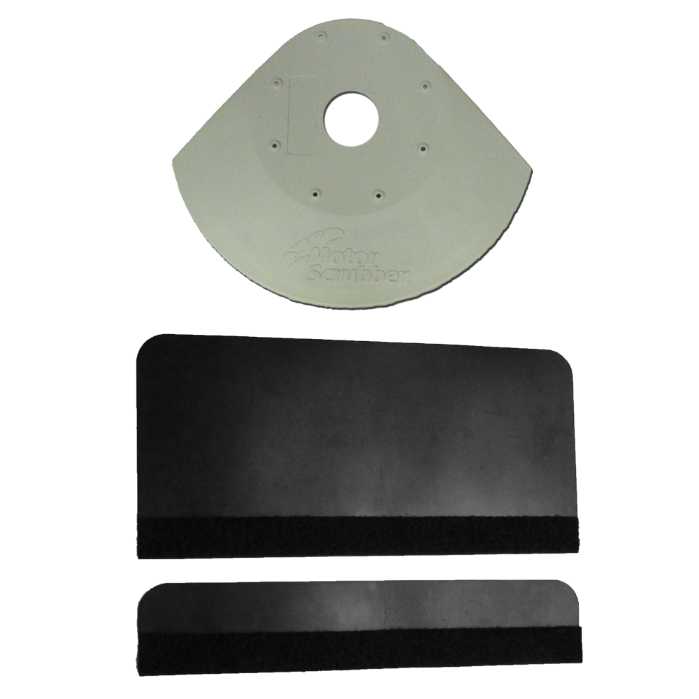 Motor Scrubber splash guard assembly to avoid splattering on things around you.  Use this splash guard assembly on your motor scrubber to prevent splatter.