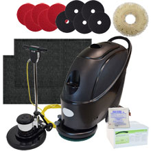 "17"" Stinger Electric Floor Scrubber & Machine Gold Package"