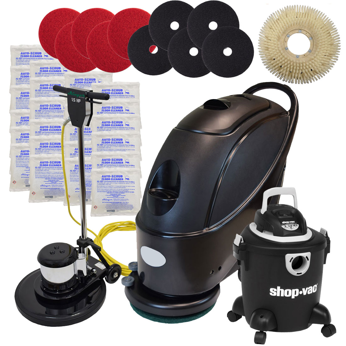 17 Quot Stinger Electric Floor Scrubber Amp Machine Gold Package