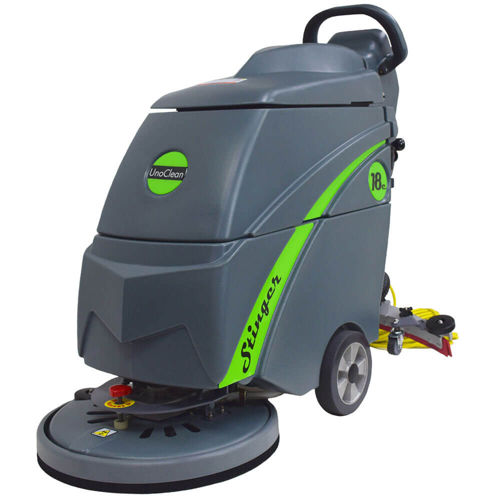 Unoclean 18fse Electric Floor Scrubber Walk Behind