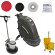 Electric Automatic Floor Scrubber & Floor Machine Gold Package VP-FANG18C-GOLD
