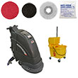 Electric Automatic Floor Scrubbing Silver Package VP-FANG18C-SILVER