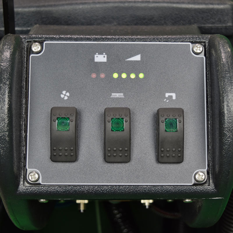 Control panel on the UnoClean Stinger 20 floor scrubber