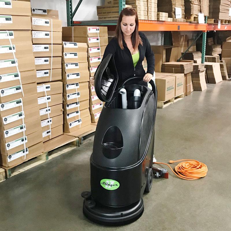 17 Quot Electric Cord Automatic Floor Scrubber Machine Unoclean
