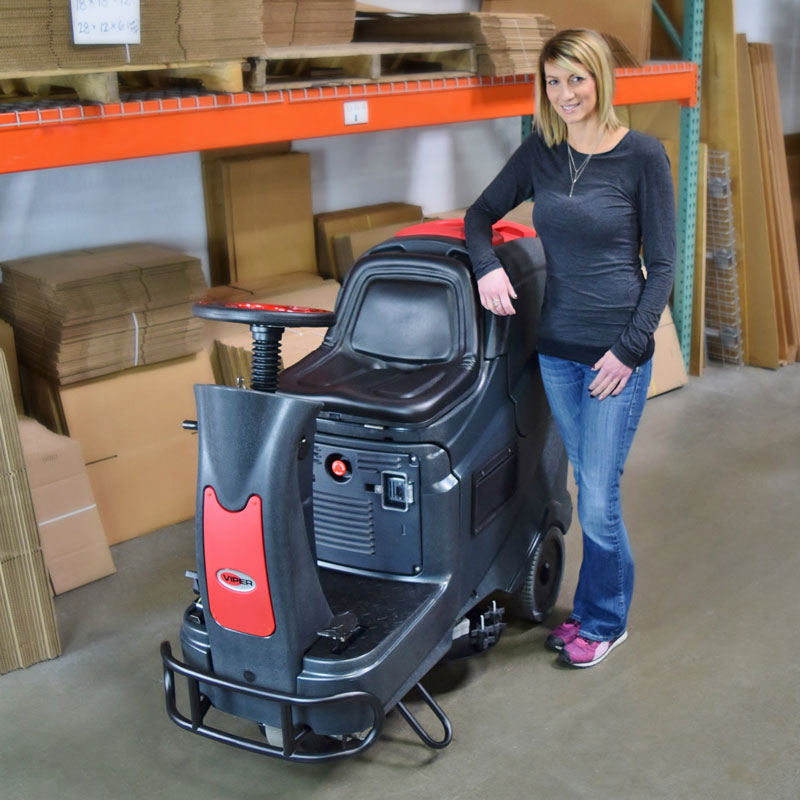 Viper as710r rider auto scrubber unoclean for Floor scrubber