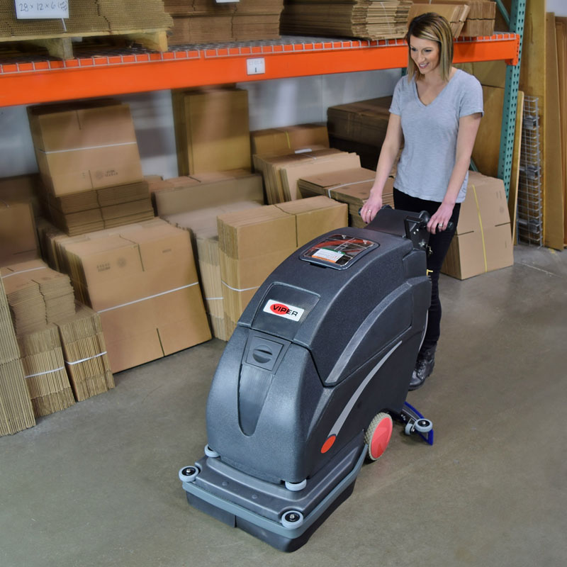 Viper Fang 20 walk behind floor scrubber - battery operated