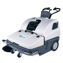 "Mastercraft DM-900G DebrisMaster Gas Walk Behind Floor Sweeper - 36"" Intake"