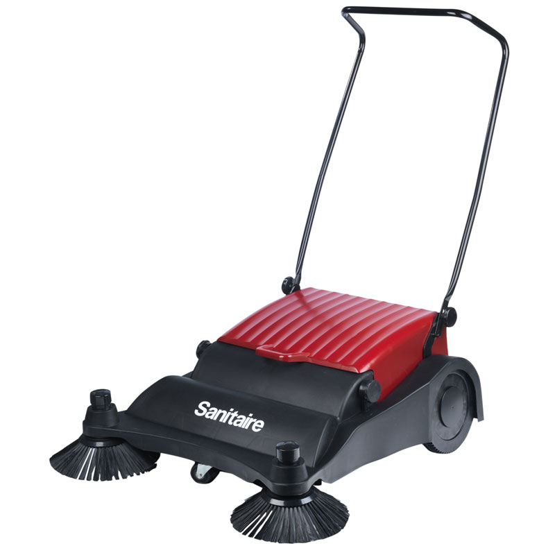 32 inch Wide Area Manual Push Floor Sweeper