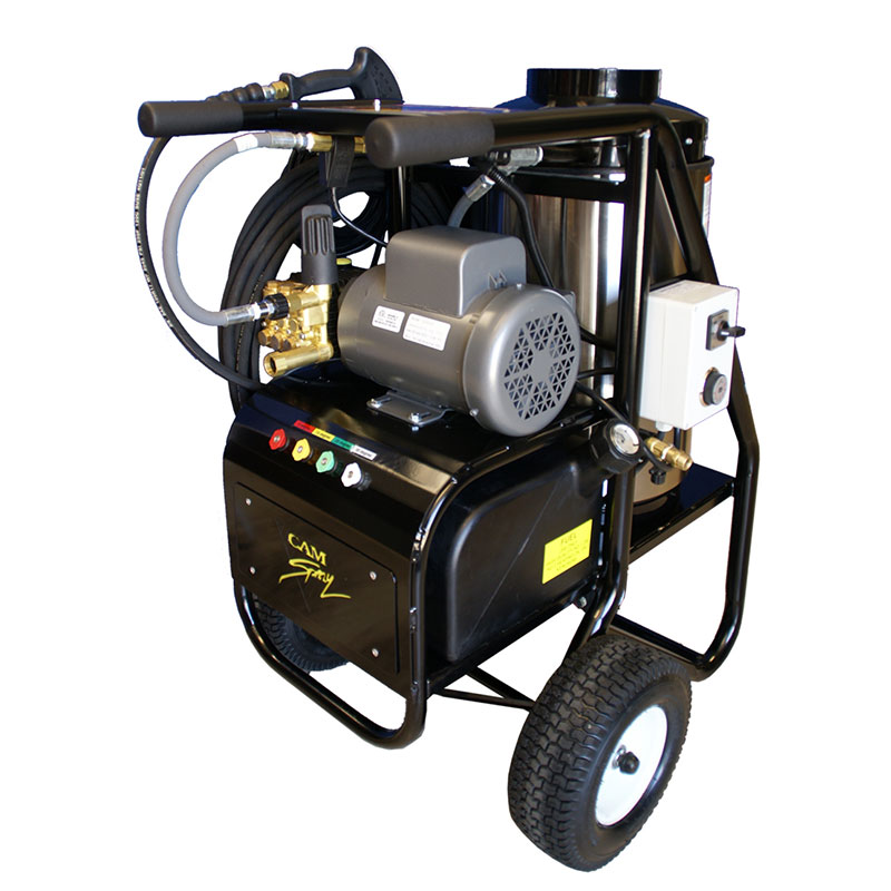 Cam Spray 1500SHDE SH Series Oil Fired Hot Water Pressure Washer - 1500 PSI