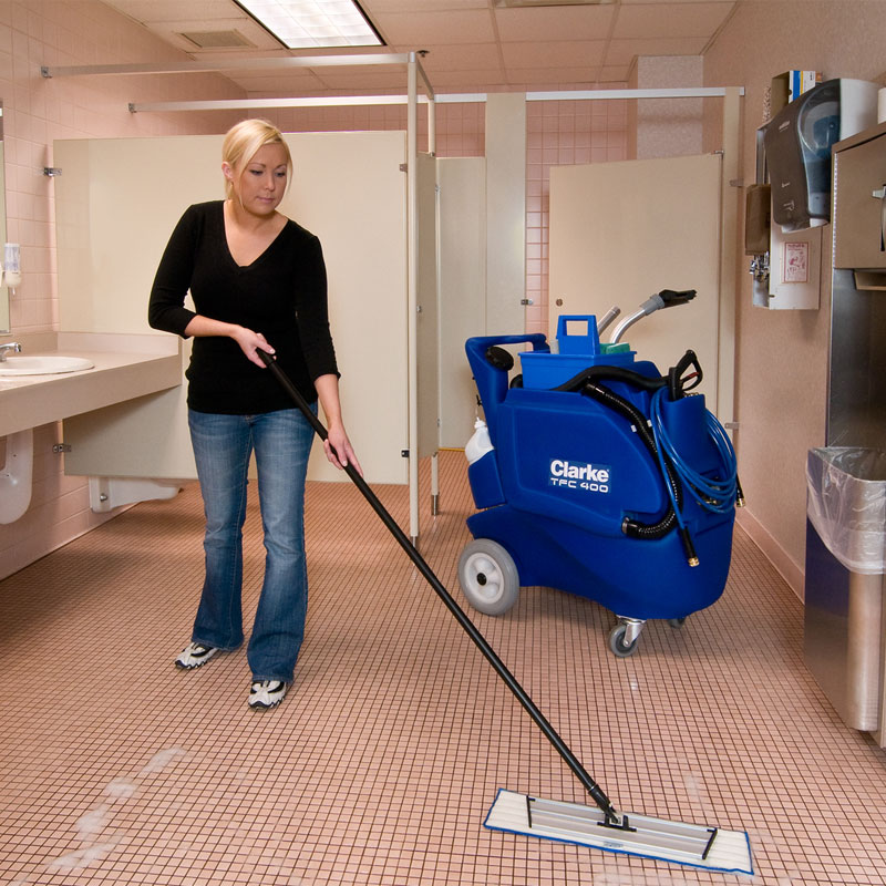 Clarke tfc 400 all purpose cleaning machine cart unoclean for Bathroom cleaning machine