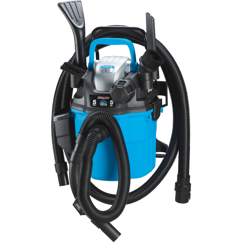 5 Gallon 5 HP Wall Mount Wet/Dry Vacuum - 5 Gallon Wall Mount Wet/Dry Vacuum - UnoClean