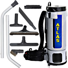 10 Quart Atlas Backpack Vacuum w/ Mixed Tool Kit
