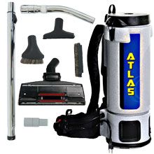 10 Quart Atlas Backpack Vacuum w/ Industrial Tool Kit