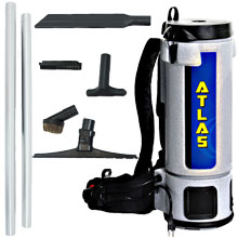 10 Qt. Atlas Backpack Vacuum w/ Sidewinder Tool Kit