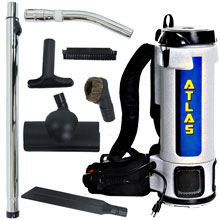 Atlas 6 Quart Backpack Vacuum w/ Turbo Brush Tool Kit