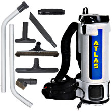 Atlas 6 Quart Backpack Vacuum w/ Mixed Tool Kit