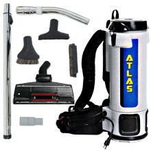6 Quart Atlas Backpack Vacuum w/ Industrial Tool Kit