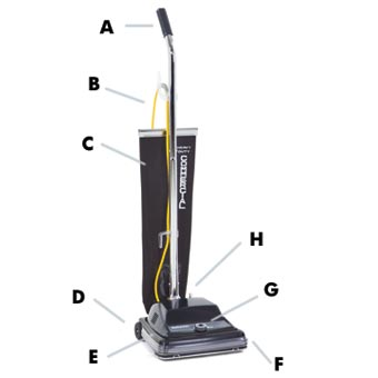 Kent Euroclean ReliaVac™ 12 High Performance Upright Vacuum Cleaner - 12