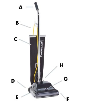 "Kent Euroclean ReliaVac™ 12 High Performance Upright Vacuum Cleaner - 12"" Cleaning Path"