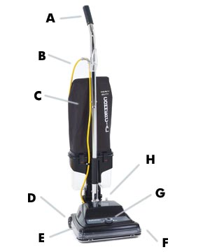 "Kent Euroclean ReliaVac™ 12DC High Performance Upright Vacuum Cleaner - 12"" Cleaning Path"