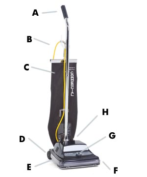 Kent Euroclean ReliaVacTM 12HP High Performance Upright Vacuum Cleaner