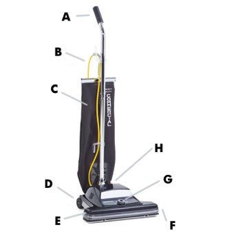 Kent Euroclean ReliaVac™ 16HP High Performance Upright Vacuum Cleaner - 16