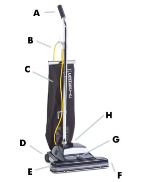 "Kent Euroclean ReliaVac™ 16HP High Performance Upright Vacuum Cleaner - 16"" Cleaning Path"