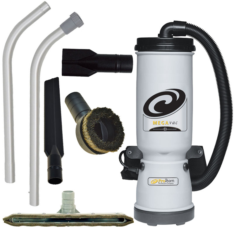 ProTeam MegaVac Backpack Canister Vacuum w/ Blower Attachment Kit A