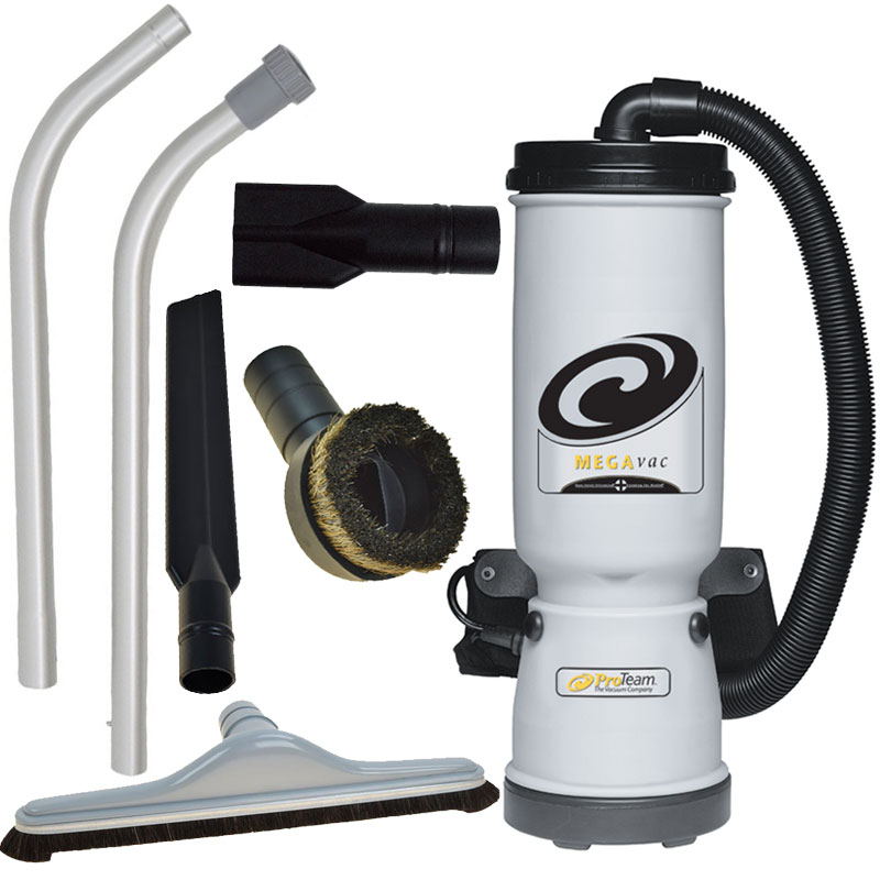 ProTeam MegaVac Backpack Canister Vacuum w/ Blower Attachment Kit B