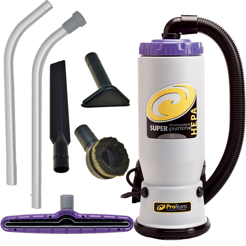Super QuartVac HEPA Backpack Vacuum w/ Tool Kit B