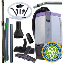6 Quart Super Coach Pro Backpack Vacuum w/ Pest Management Tool Kit