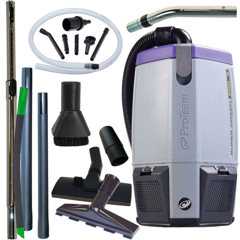 Super Coach Pro 6 Backpack Vacuum W Pest Management Tool