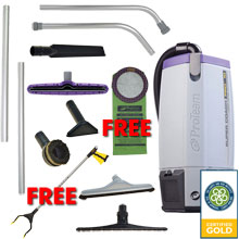 Backpack Vacuum Super Coach Pro 10 Gold Package