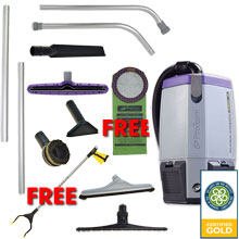 Super Coach Pro 6 Backpack Vacuum Gold Package