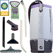 ProTeam Backpack Vacuum Super Coach Pro 10 Quart w/ Hard Surface Flooring Kit B PT-107338